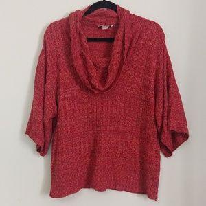C J Banks Cowl Neck Orange Harvest Sweater
